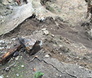 landslide damaged footpath